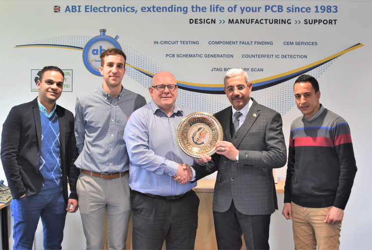 Officers from the Egyptian Air Defence Workshop receive qualified training from ABI in the UK.