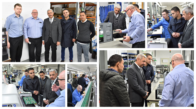 The group toured around ABI's production line in Barnsley, South Yorkshire.